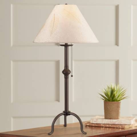 Wrought Iron Floor Lamps Magnificent Craftsman Collection Pennyfoot Wrought Iron Table Lamp  Style Inspiration