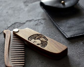 Game of Thrones Dire Wolf Comb Wooden Beard Hair Mustache House