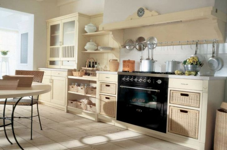 Beautiful Country Style Kitchens: Divine Custom Country Style Kitchens  Designs Inspiration And Beige Color Kitchen Sets Cabinet Combined With  Electric Oven ...
