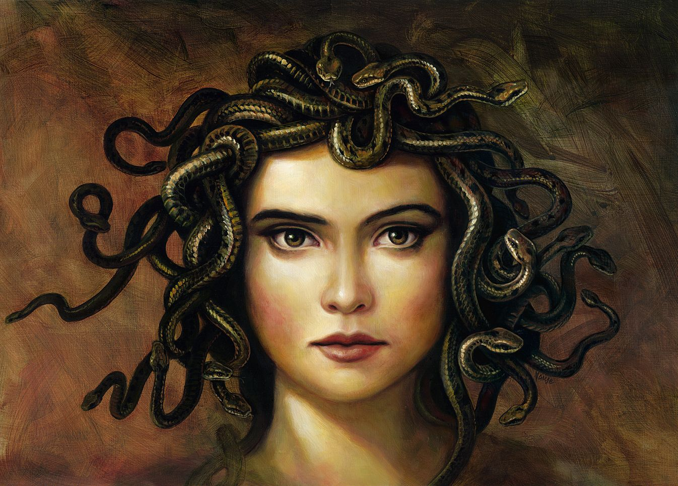 greek mythology and medusa Medusa, in greek mythology, was a woman cursed with the hair of asps, golden wings and skin, and whose beauty had the power to transform men into stone statues.