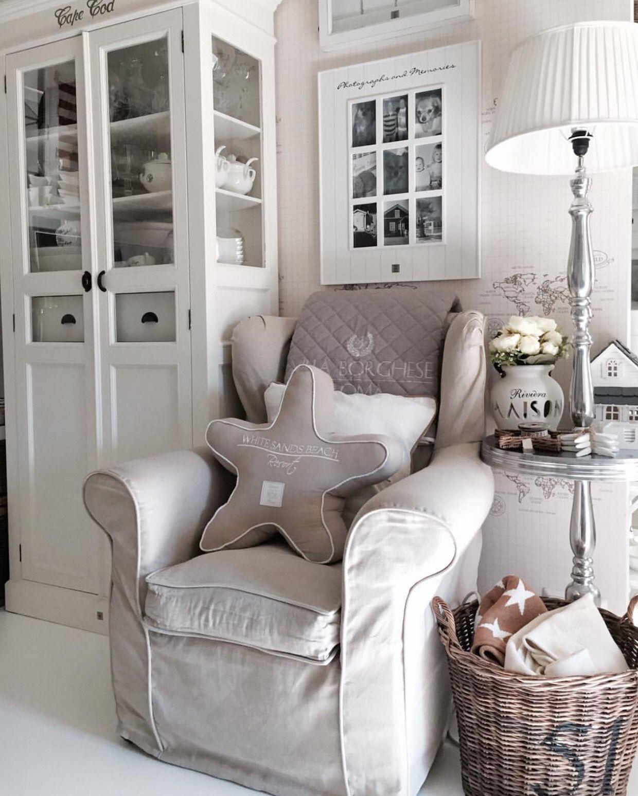 Landelijke zithoek in shabby chic Riviera Maison stijl | essie ...