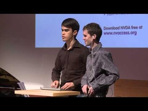 ▶ ONExSENSE: Michael Curran & James Teh at TEDxBrisbane - YouTube Visually Impaired Coders NVDA