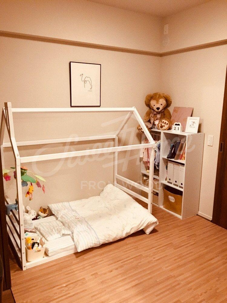 Children Bed House Frame Bed Children Furniture Toddler Bed Wood