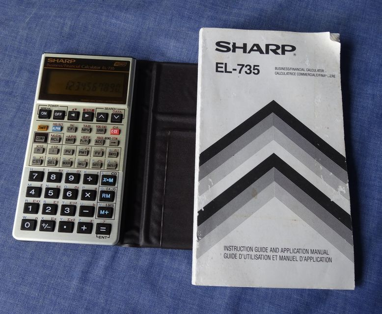 vintage sharp el 735 business financial calculator made in japan rh pinterest com Scientific Calculator Sharp EL 531 Sharp EL 1801V Calculator Ribbon