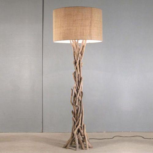 Modern Home Nautical Driftwood Floor Lamp Walmart Canada In 2020 Diy Floor Lamp Wood Floor Lamp Coastal Floor Lamps