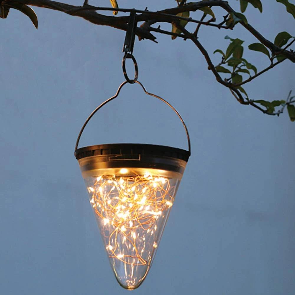 Solar Cone Diamond Light Hanging Solar Lights Solar Lantern Lights Outdoor Hanging Lanterns