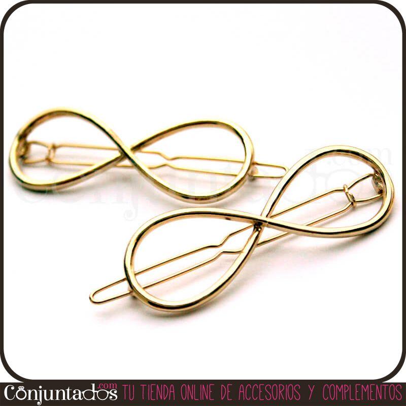 El #Pasador dorado de #pelo Infinity es un bonito y útil accesorio para las amantes de los cambios de peinado. Para rematar un moño, separar el flequillo a un lado ... Viene en pack de 2 unidades y también lo tenemos en plateado. Precio: 4,95 € en http://www.conjuntados.com/pasador-dorado-de-pelo-infinity-pack-2-unidades.html #moda #fashion #accesorios #complementos #estilo #style #bisuteria #jewelry #enviogratis #novedades #PymesUnidas #horquillas #mariposa #butterly #horquillapelo #pelo…