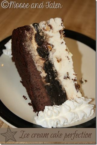 Ice cream cake recipe, for Brian, who prefers ice cream to cake.