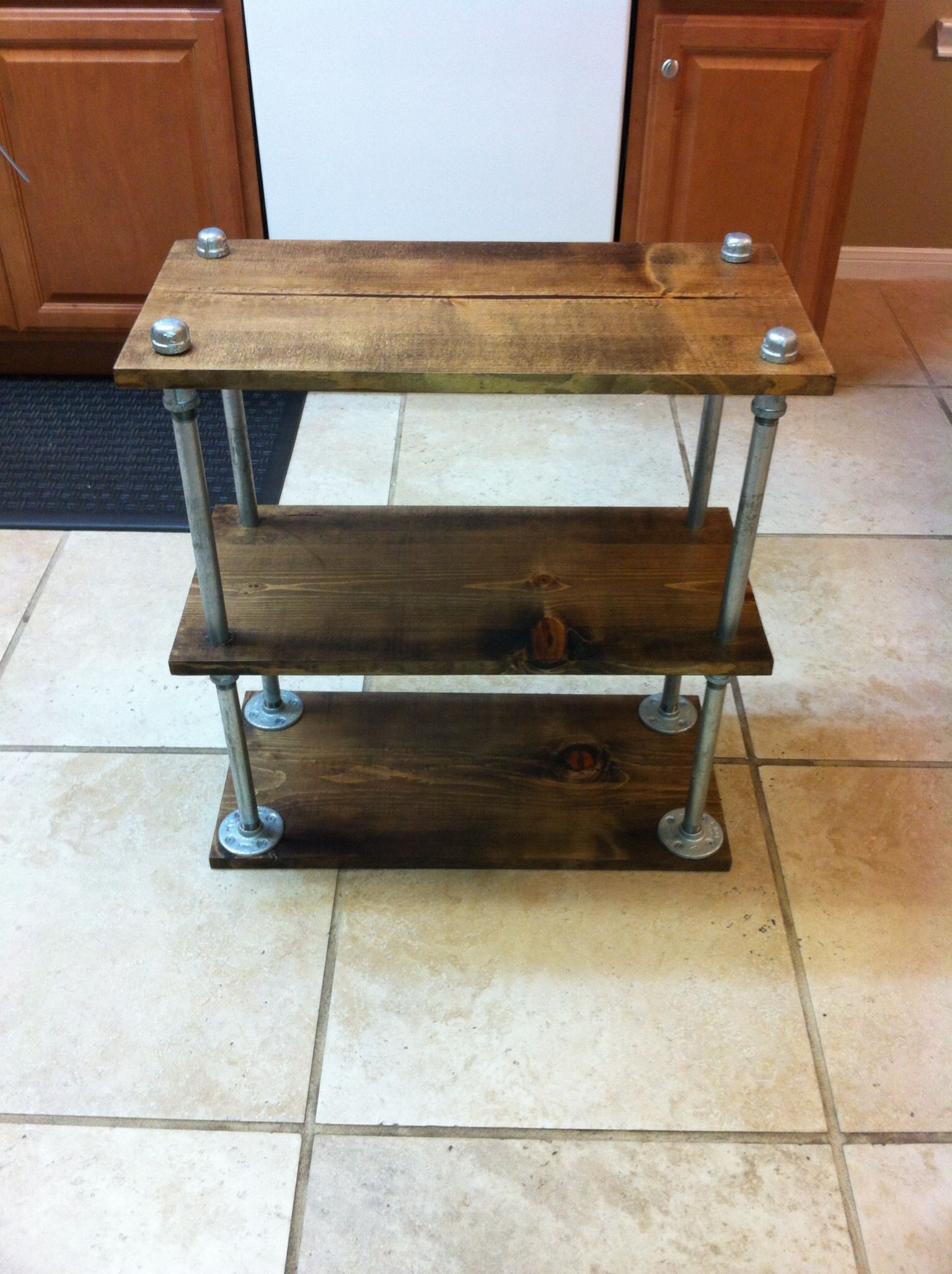Superb Galvanized Pipe Side Table