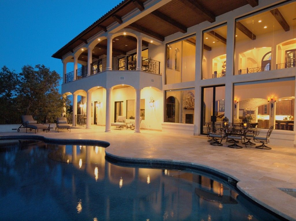 lighting in houses. horseshoe bay mediterranean style lake house pool by zbranek u0026 holt custom homes austin lighting in houses