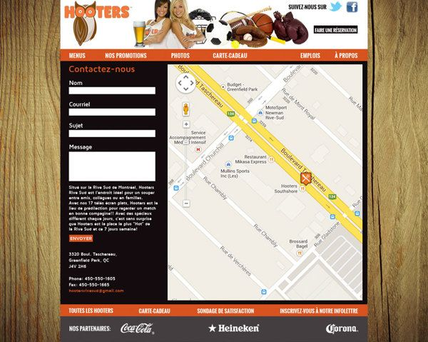 Websites Design / HOOTERS on Behance