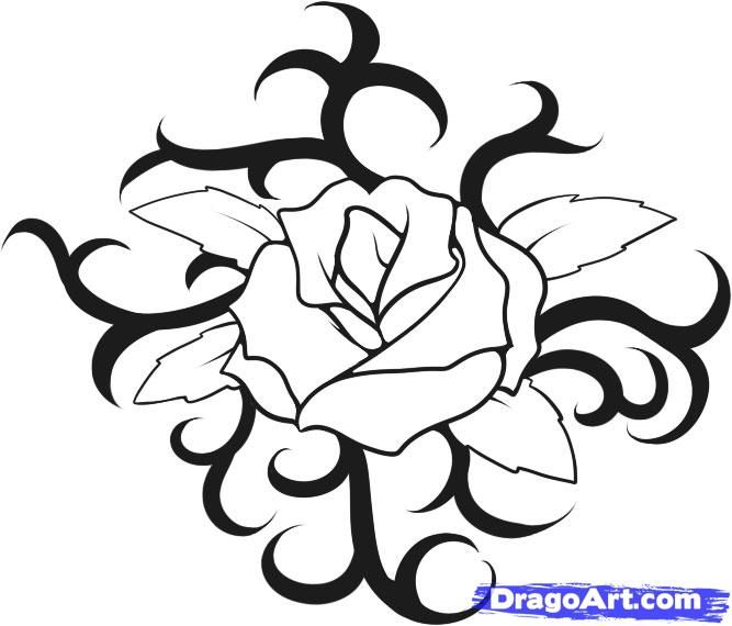 How to draw a rose tattoo step by step tattoos pop culture how to draw a rose tattoo step by step tattoos pop culture ccuart Image collections
