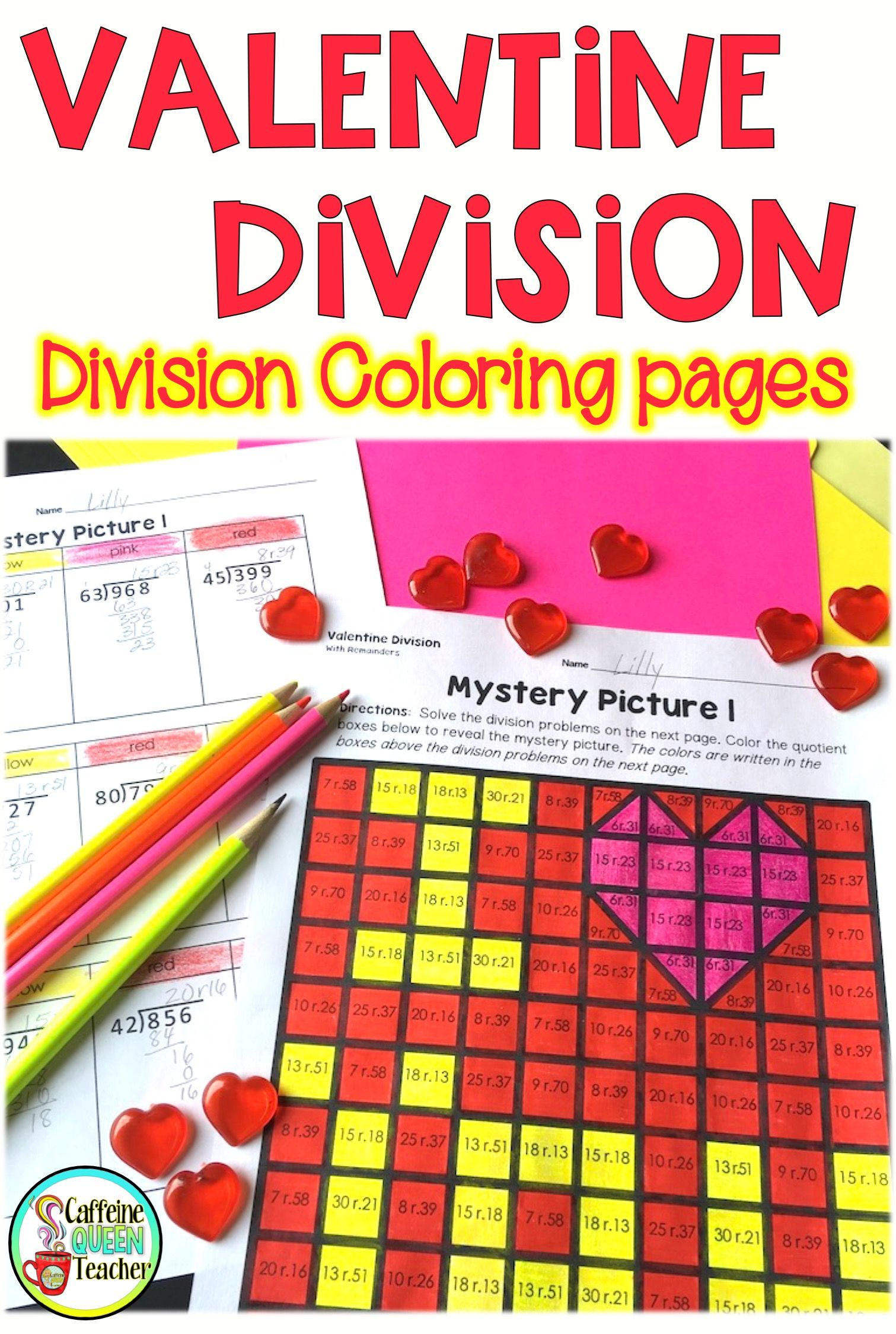 Valentine S Day Division Activities For Long Division With