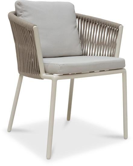 ARUBA Gartenstuhl, 64x60/77cm, sand/ecru - Der Gartenstuhl ARUBA glänzt mit modernem Design und höchstem Sitzkomfort und überzeugt darüber hinaus mit seien Outdoor-Qualitäten. Das Gestell des Gartenst