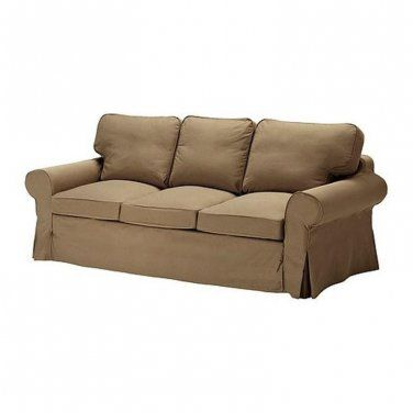 Ikea Rp Pixbo 3 Seater Sofa Bed Cover Idemo Light Brown 701 824 69