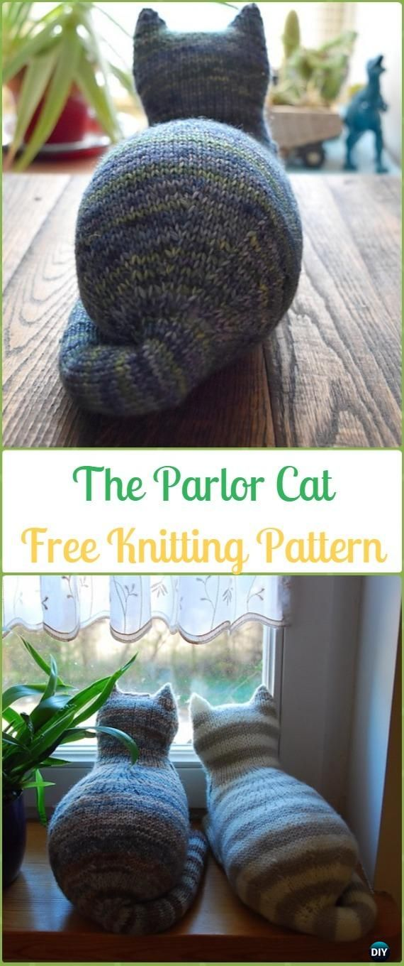 Amigurumi Knit Cat Toy Softies Free Patterns #knittingpatternstoys