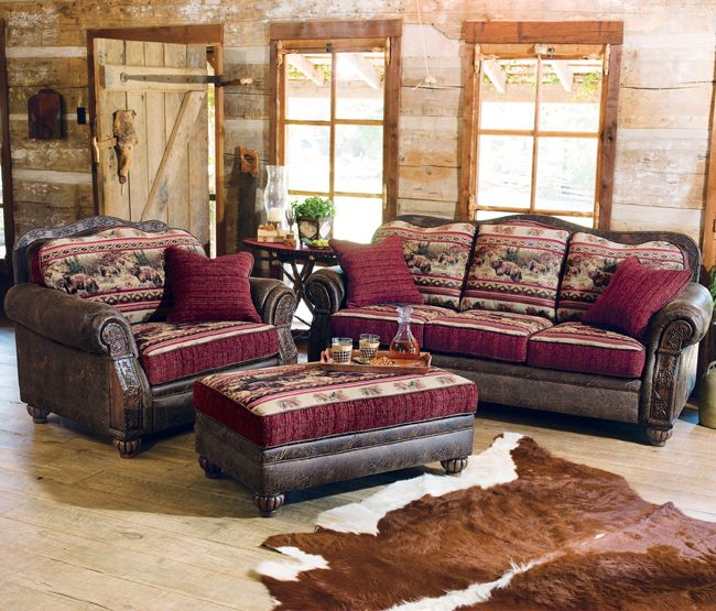 Superior Rustic Retreat Decorating: Taos Bear Sofa Collection U2013 Everything Lodge  Decor