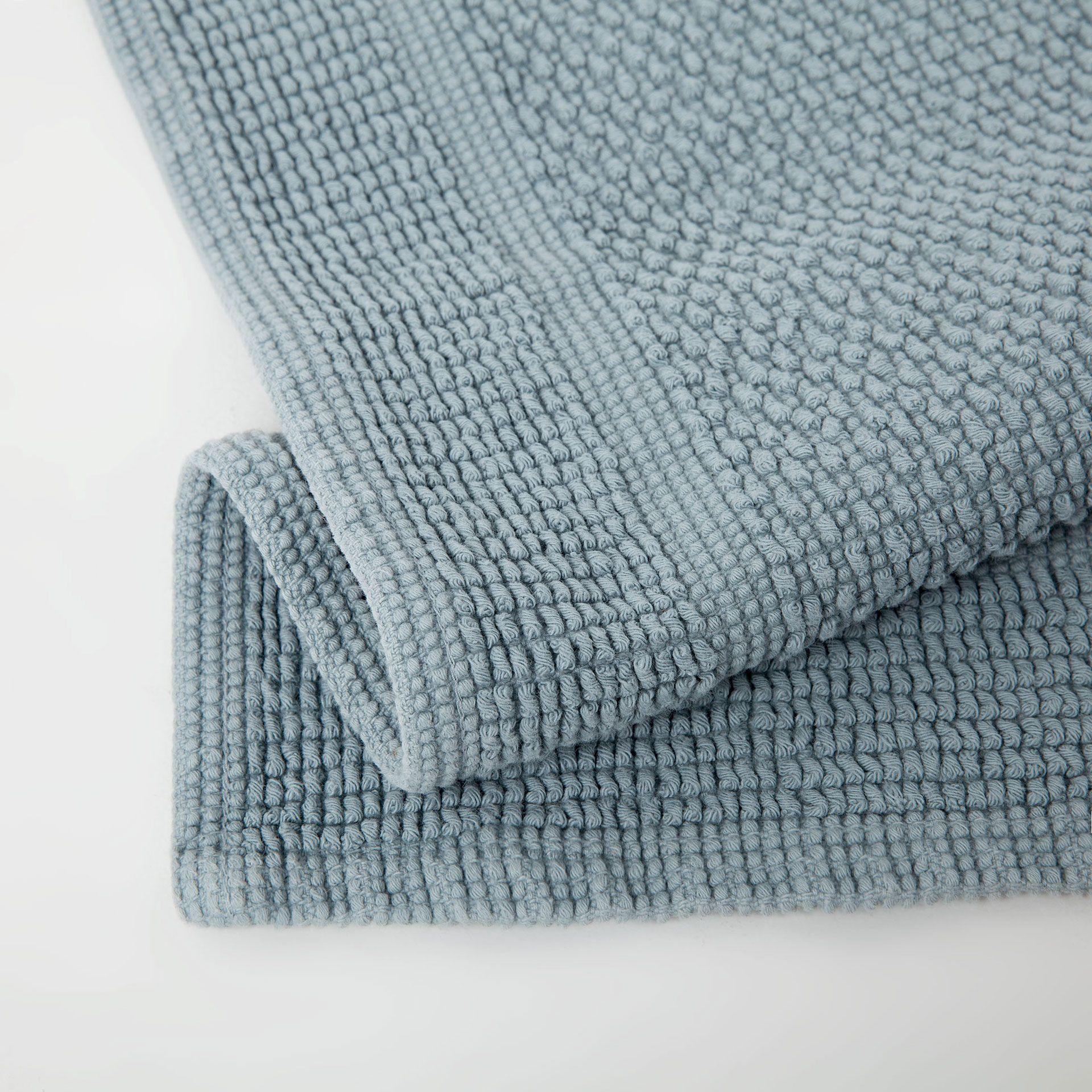 Bild 5 Des Produktes Basic Badvorleger Mit Knoten In Blaugrau