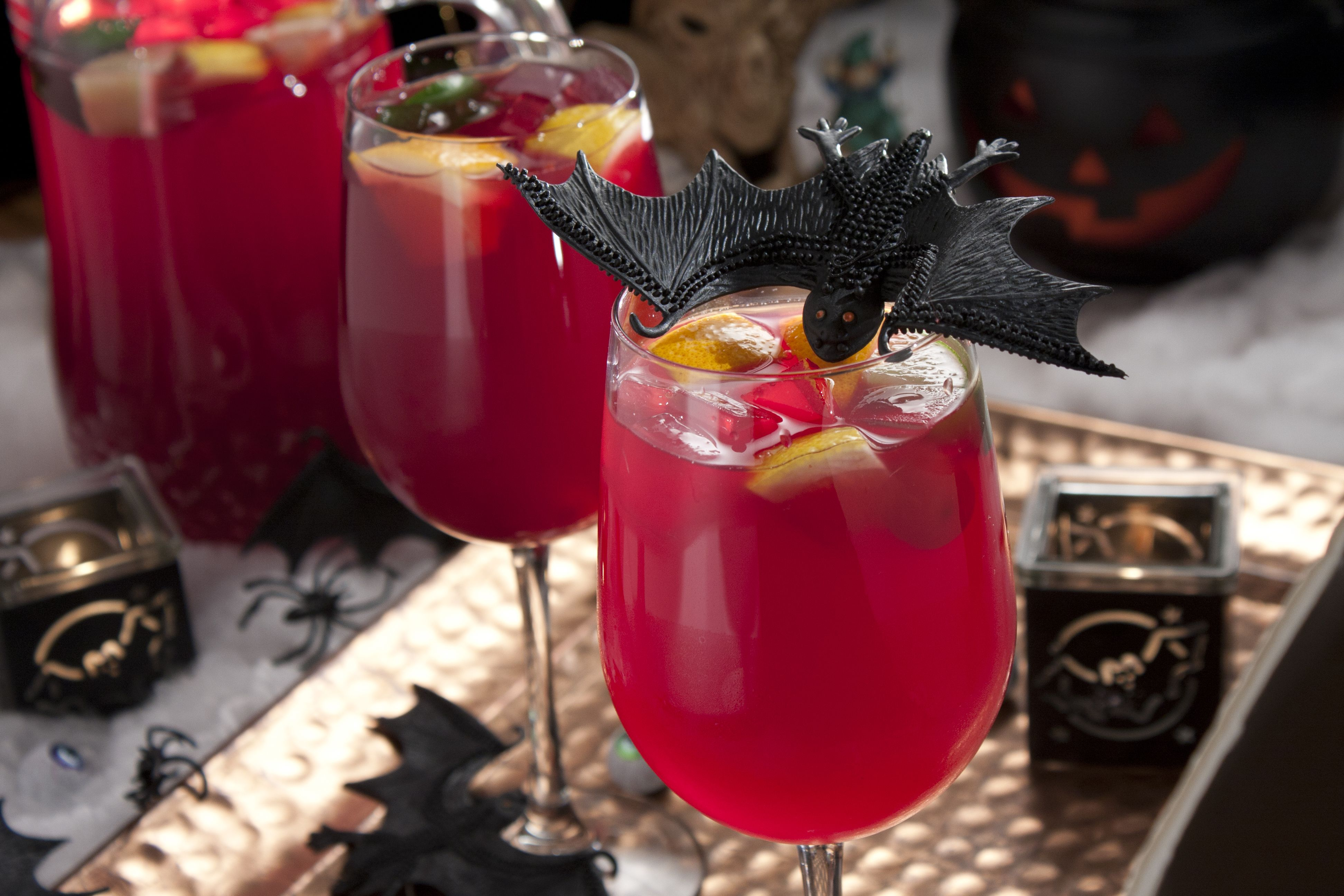 This Vampire Sangria Is Just What You Need To Liven Up This Year S Halloween Party It S Fruity Fab Smoothie Drink Recipes Mr Food Recipes Easy Halloween Food