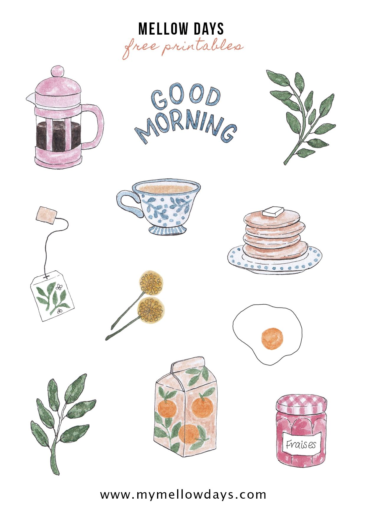 Free Printable Stickers For Bujo Bullet Journal Planner Free Printable Stickers Sticker Art Printable Stickers