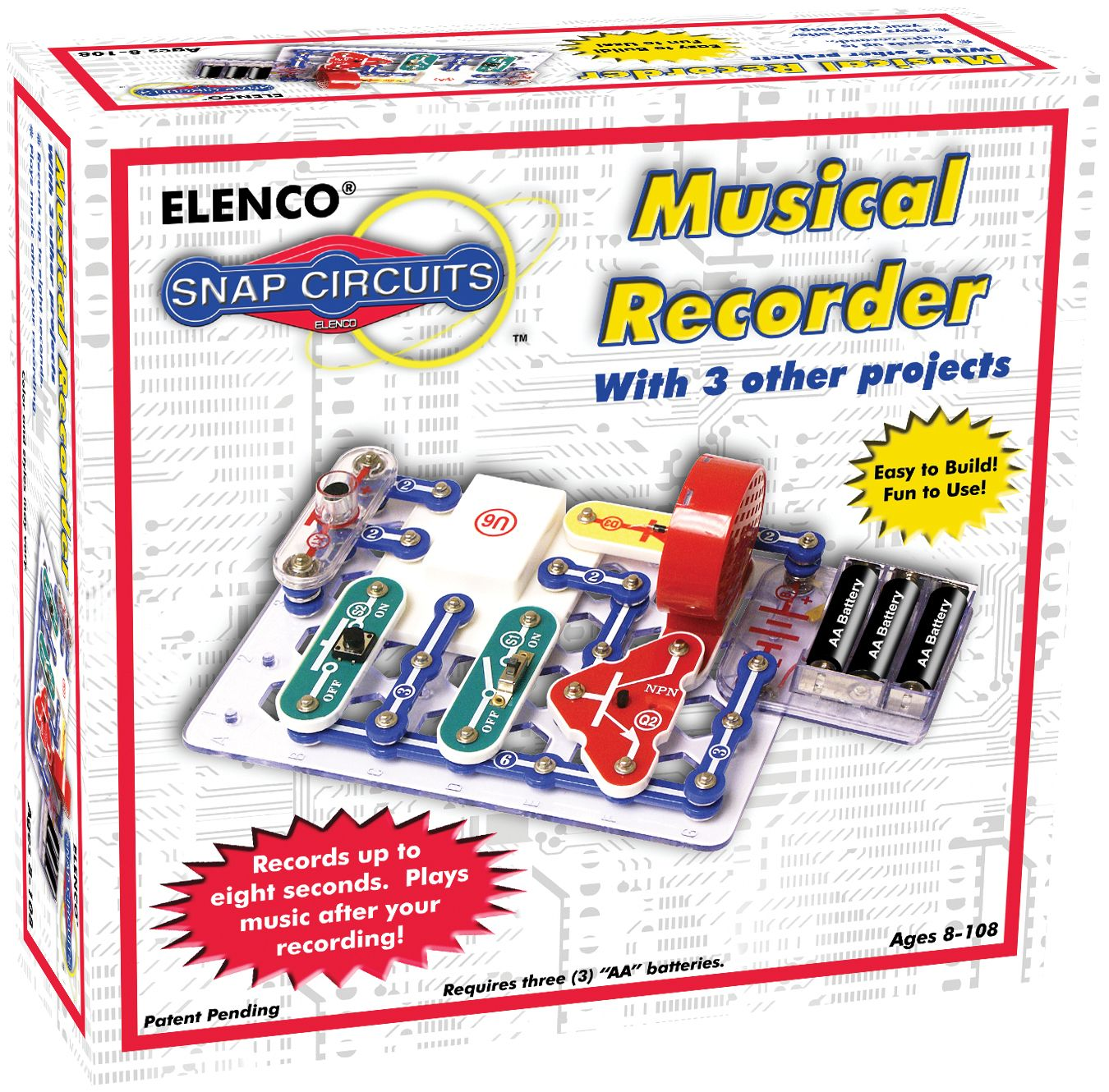 Snap Circuits Musical Recorder By Elenco Circulating Steam Kits Flying Saucer Easy To Build Provides Hours Of Fun