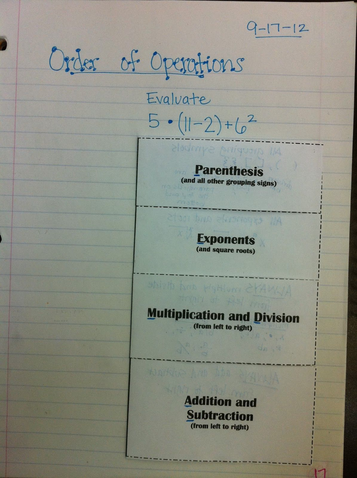 The Teacher Who Hated Math Order Of Operations Foldable