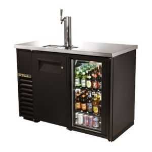 Necessary? No.  Juvenile? Perhaps.  Awesome? Yes!  Keg dispenser and refrigerator, pinned from restaurantsource.com