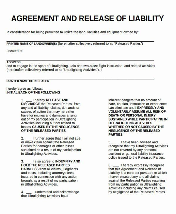 General Release Form Template Awesome Sample General Liability Release Form 7 Examples In Liability Waiver General Liability Liability