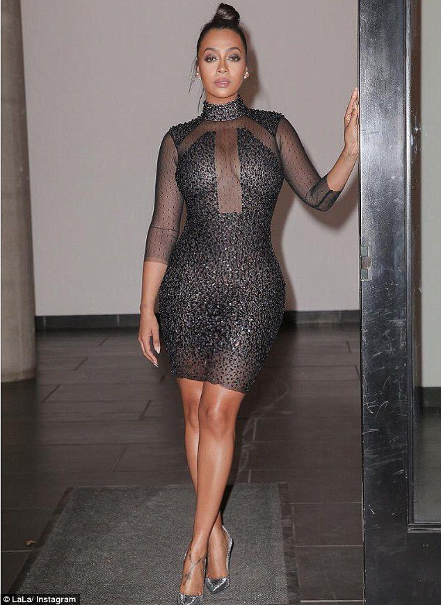 Lala anthony wows in see through beaded mini dress for jingle ball lala anthony wows in see through beaded mini dress for jingle ball dailymail freerunsca Images