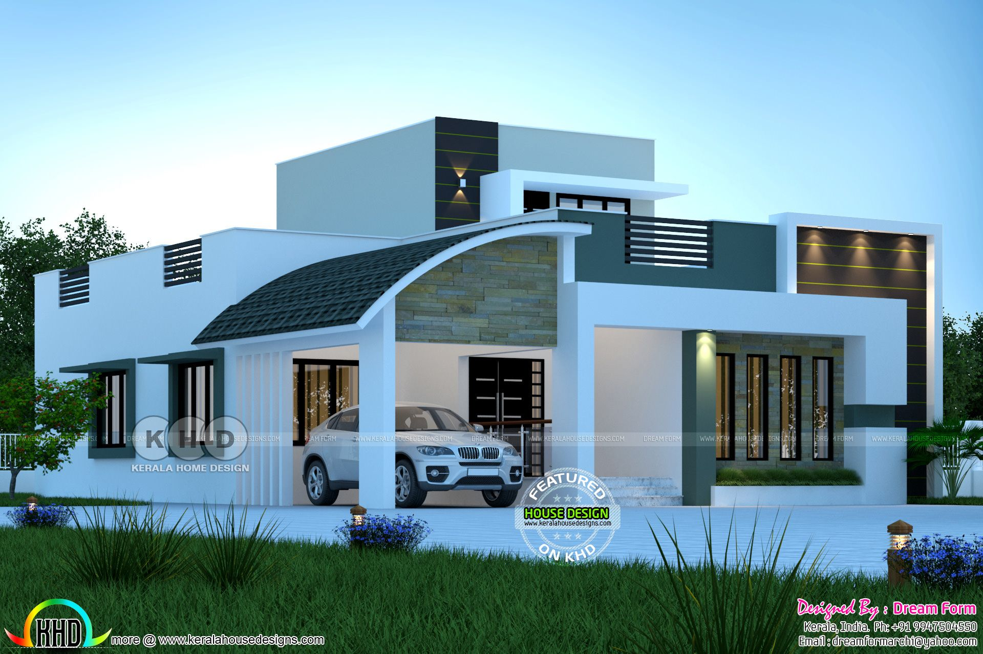 3 Bhk 2300 Sq Ft Beautiful Mixed Roof Modern Home Design In 2020 Kerala House Design Small House Front Design Single Floor House Design