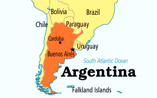 Map Of Argentina And Neighboring Countries Tuchman Travel Guide - Argentina map meaning