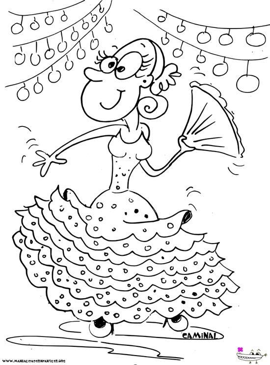 Dibujo de una Gitana en la Feria | Artsy | Pinterest | Flamenco ...