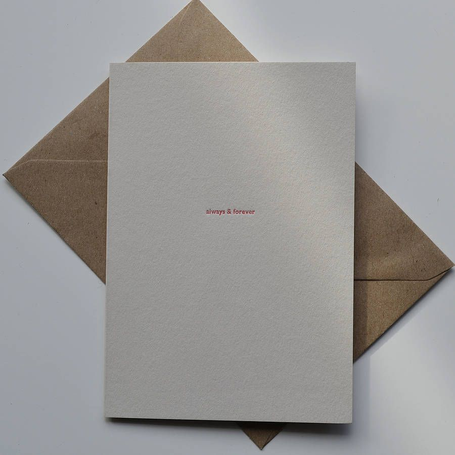 'Always And Forever' Letterpress Card