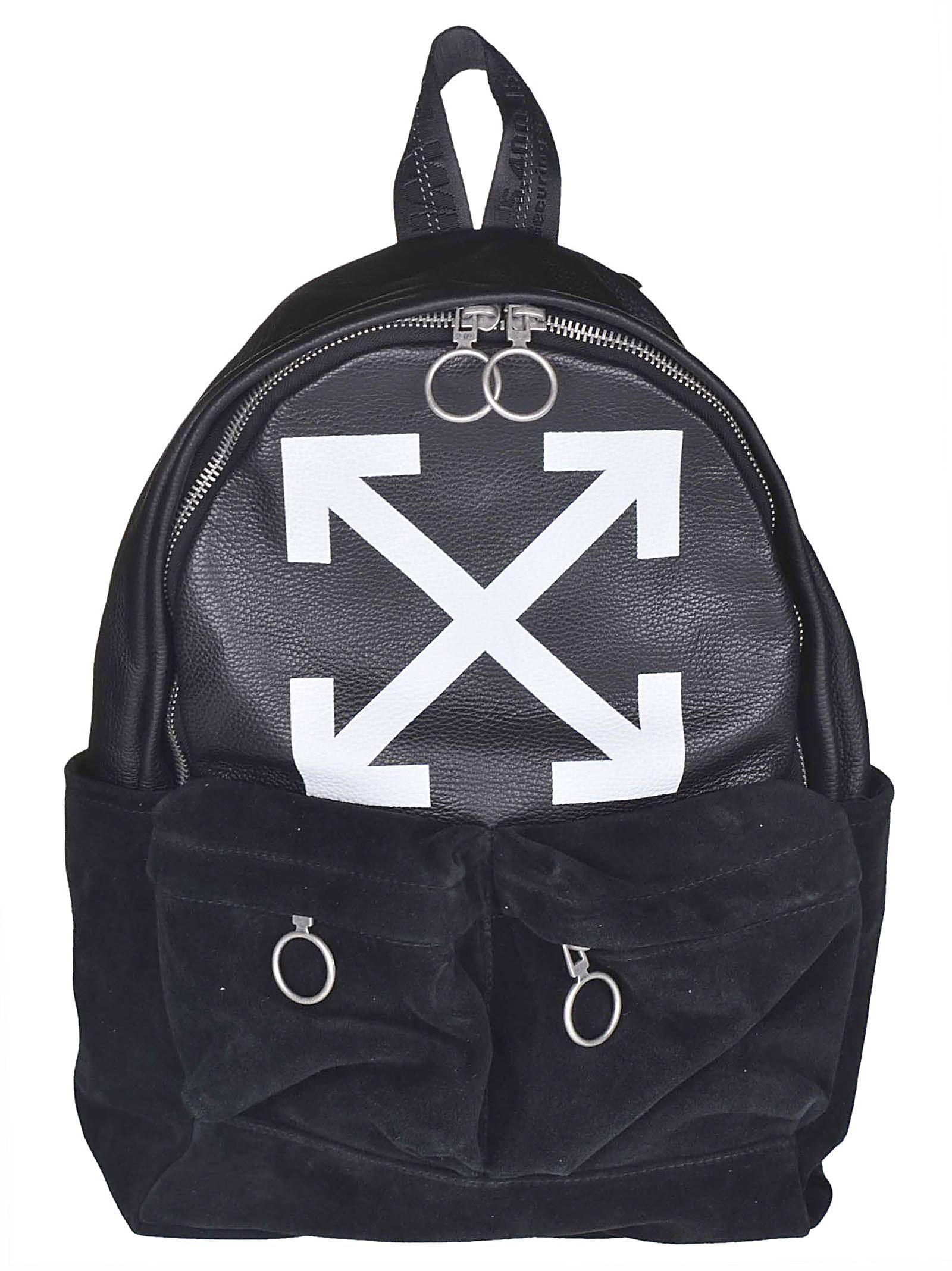 1de464e56d2c OFF-WHITE OFF-WHITE LOGO PRINT BACKPACK.  off-white  bags  polyester   backpacks