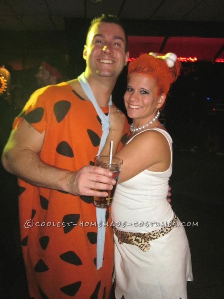 Coolest Fred and Wilma Couple Costume Diy costumes, The o\u0027jays and - couples funny halloween costume ideas