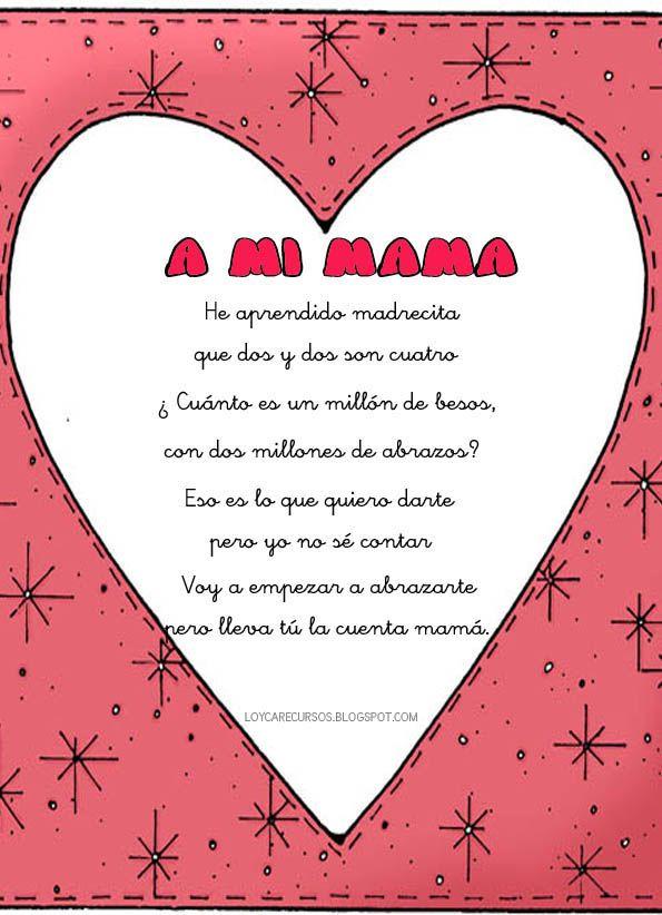 Poemas Bonitas Cartas Para El Dia De La Madre Poesia Para La Mama Buscar Con Google Arts And Crafts For Kids