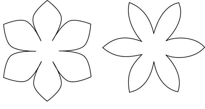 Moldes De Hojas De Las Palmas Para Imprimir: Taller De Fieltro: Cómo Hacer Patrones De Flores