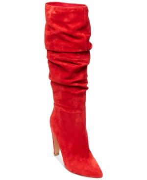 c357388baafa Steve Madden Women s Carrie Slouchy Boots - Red 5.5M