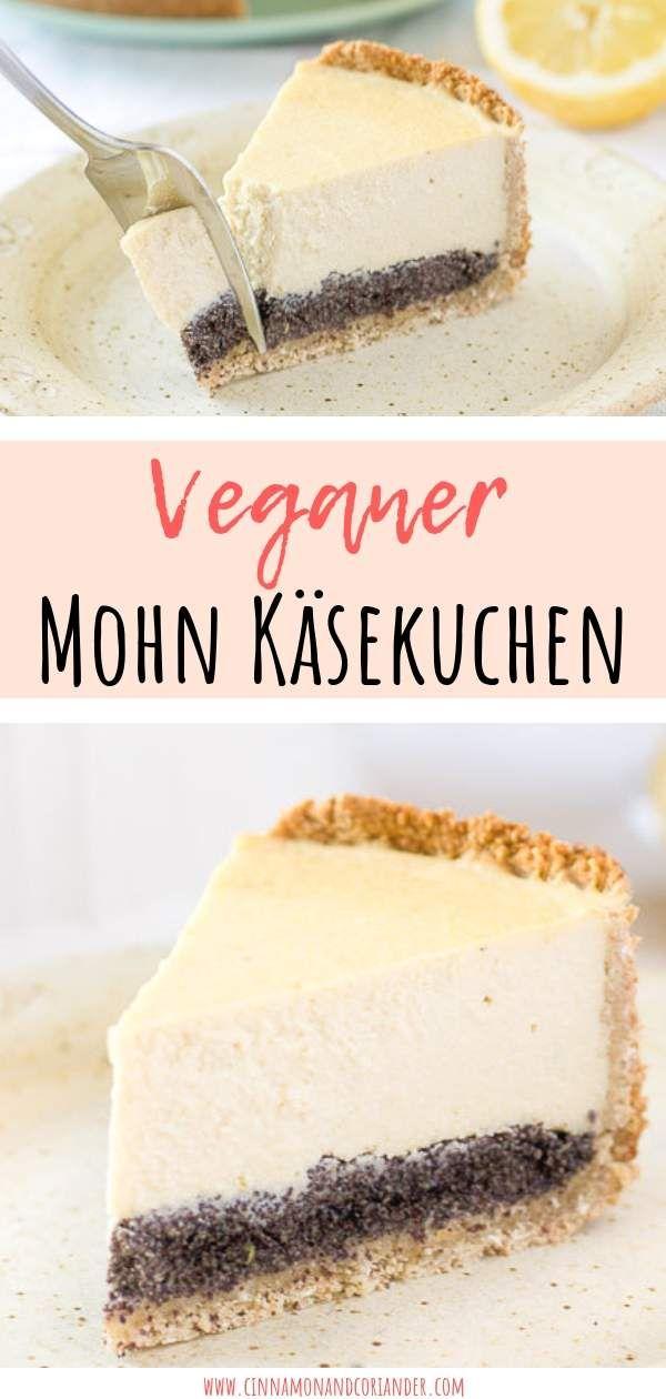 Veganer Kasekuchen Mit Mohn Rezept Mohn Kasekuchen Veganer Kasekuchen Veganer Kuchen