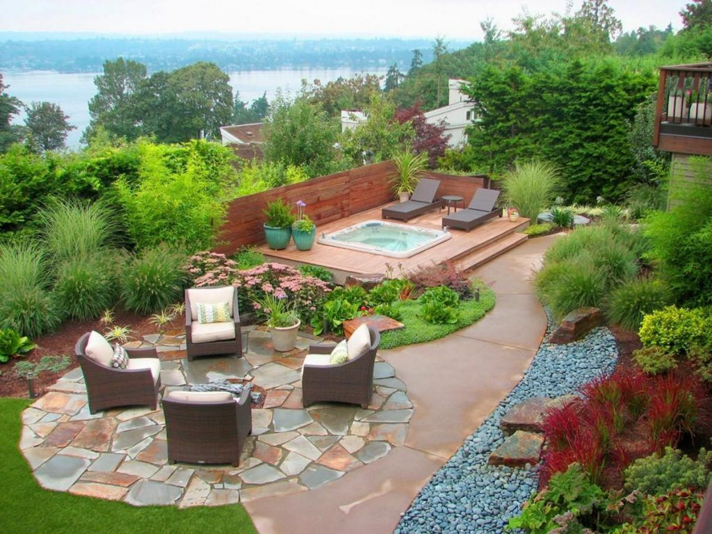 Phenomenal 10 Gorgeous Modern Landscape Designs To Make Your Home Look Stylish Having Backyard Landscaping Designs Backyard Garden Design Backyard Landscaping