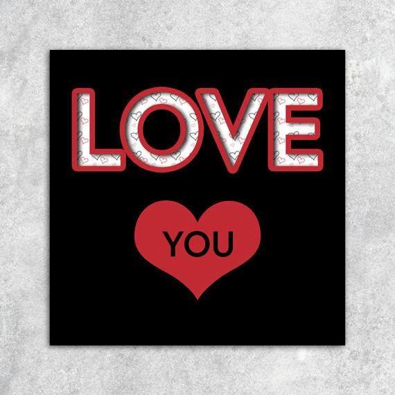 Carte, saint valentin, love, recto, JPG, PNG, qualité impression, en