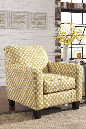 Bring A Bit Of Edginess To Your Decor With The Brindon Accent Yellow Polka  Dot Chair