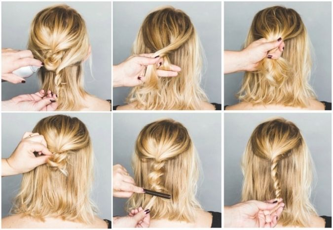 Frisuren Zum Selber Machen Für Mittellange Haare In Bezug Auf