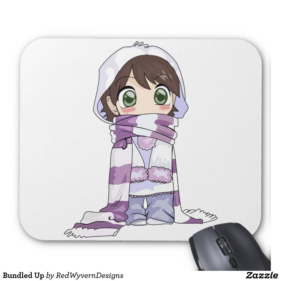 Bundled Up Mouse Pad  Zazzle.com in 9  Anime child, Anime