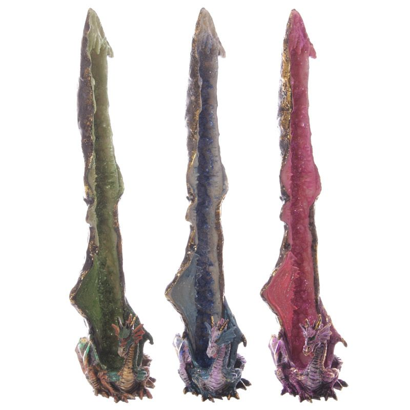 Fantasy Geode Crystal Upright Incense Stick Burner Our fantasy and gothic dragon range are great entry level collectors items as they are well