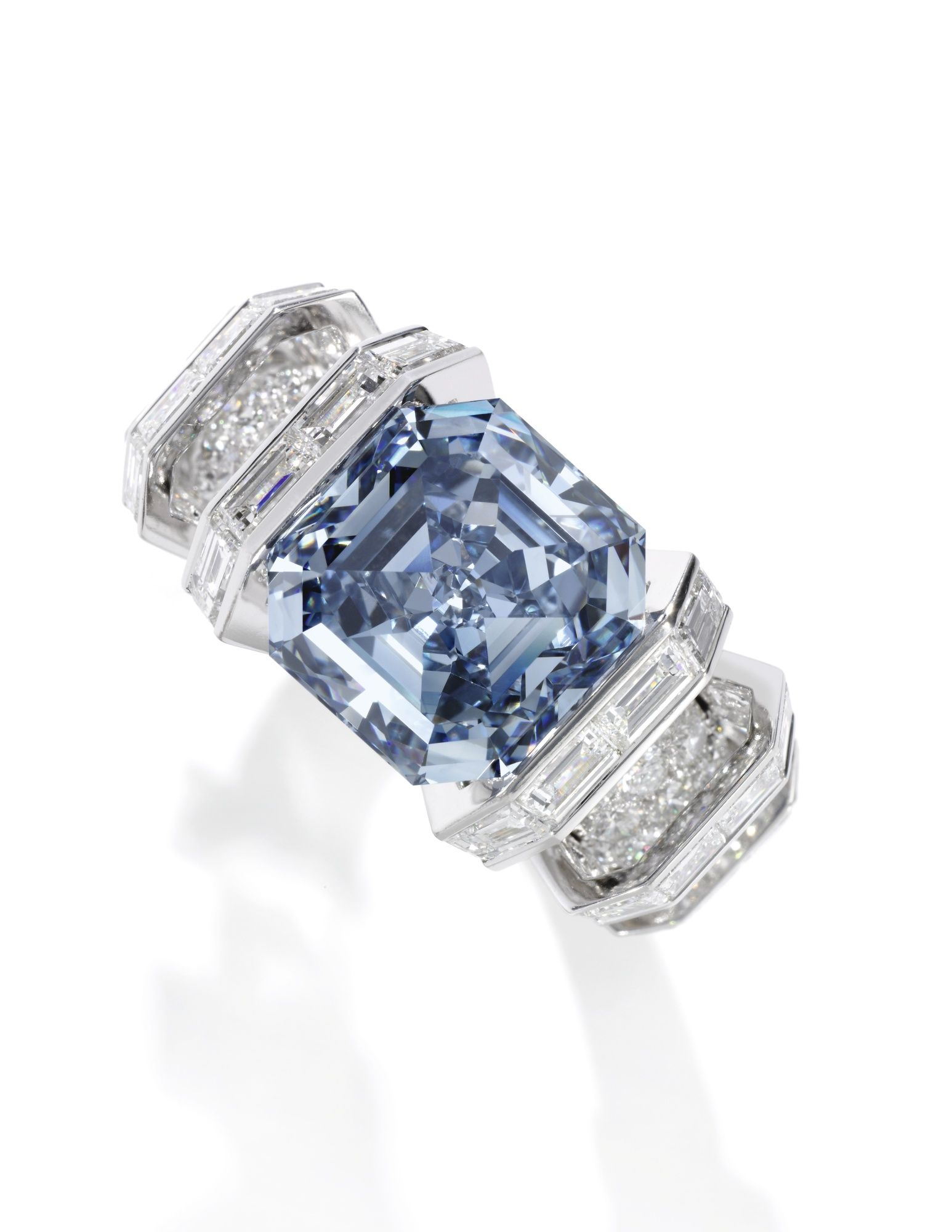 "The Sky Blue Diamond"" Superb 8 01 carats Type IIb fancy vivid"