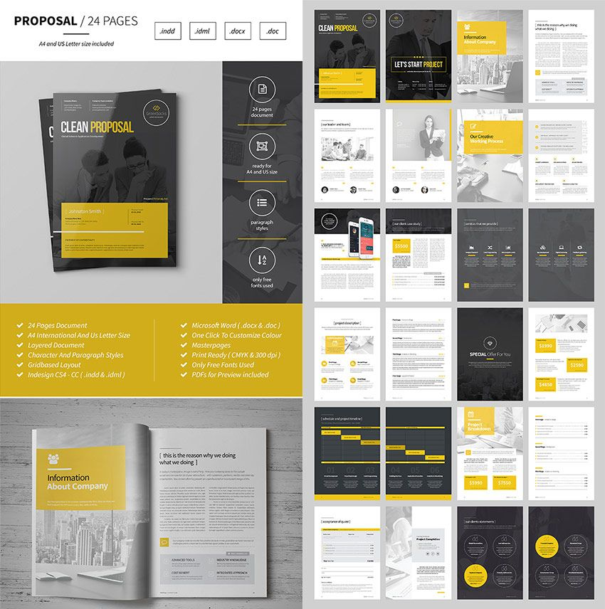 Multipurpose design business proposal templatejpg 850x856 proposal pinterest business for Microsoft word graphic design
