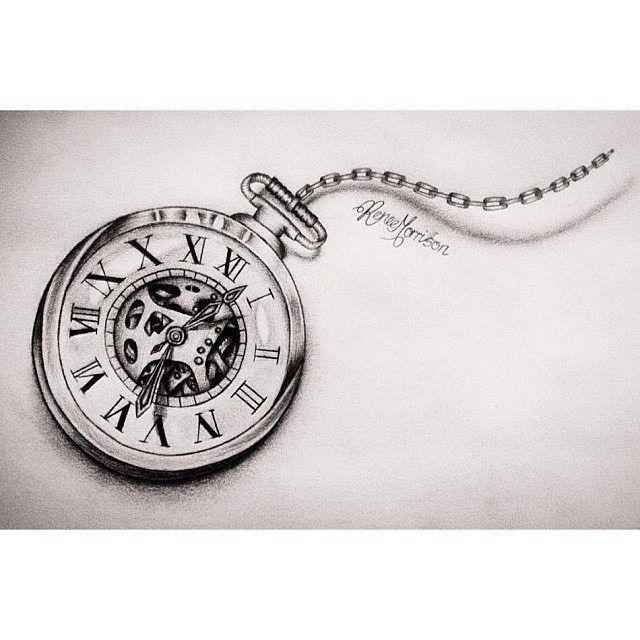 Reloj Bolsillo Dibujo Reloj De Bolsillo Tatuaje Reloj De Bolsillo Tatuajes De Relojes