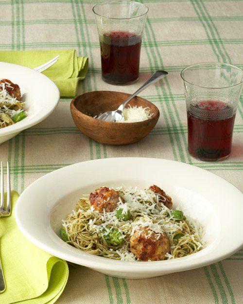 Turkey and Pancetta Meatballs, Recipe from Martha Stewart's Dinner at Home,