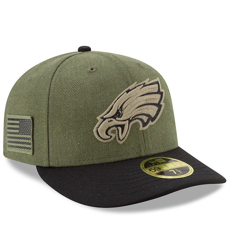 d0c5a650 Men's Philadelphia Eagles New Era Olive/Black 2018 Salute to Service ...